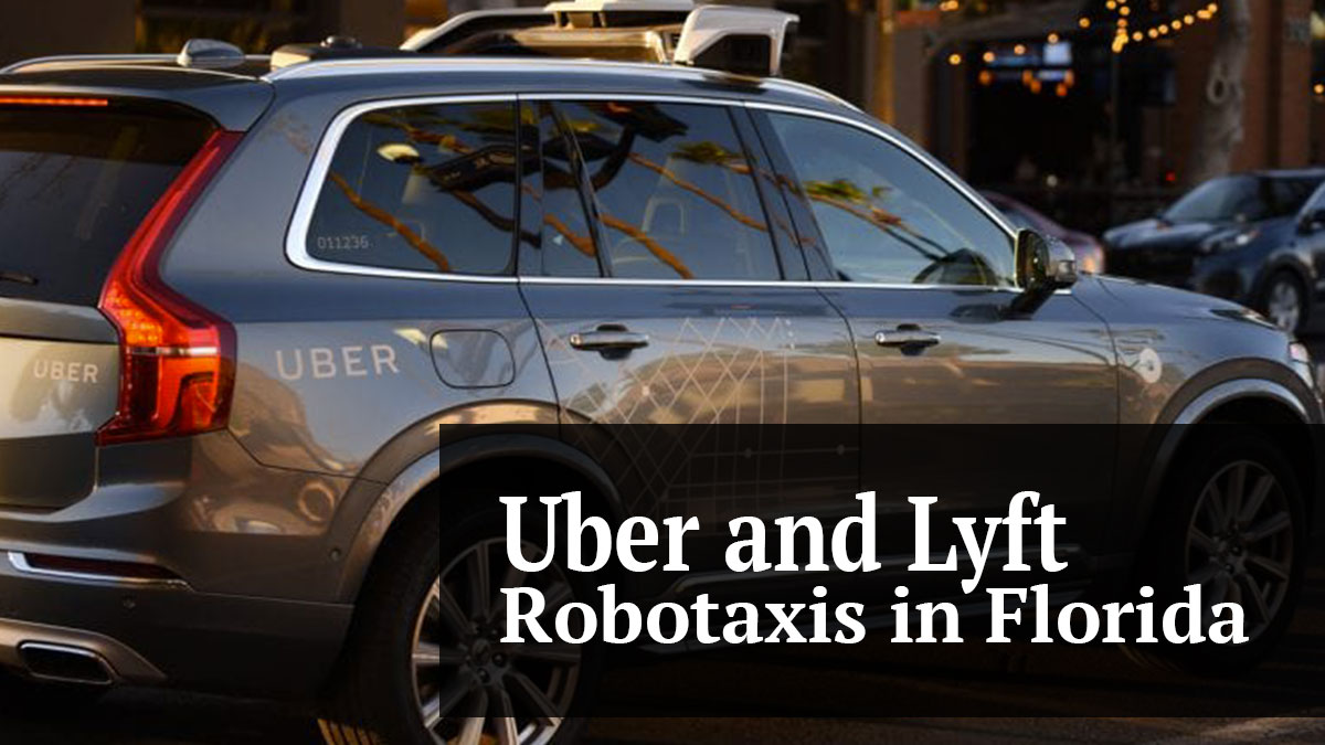 Uber and Lyft Robotaxis Are on The Way to Florida